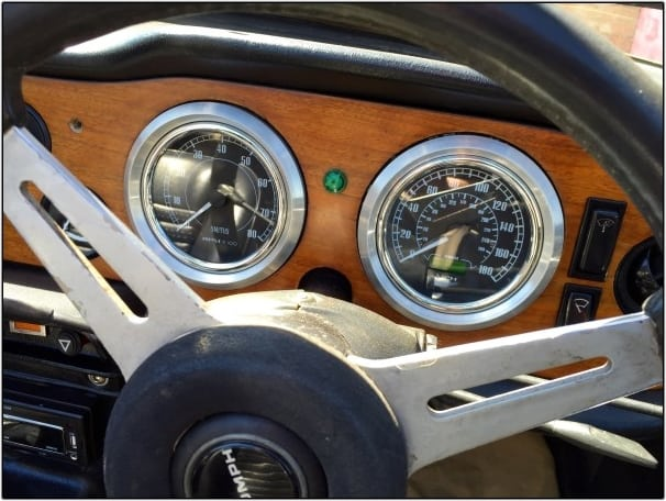 BMW Powered Triumph TR6 Dash