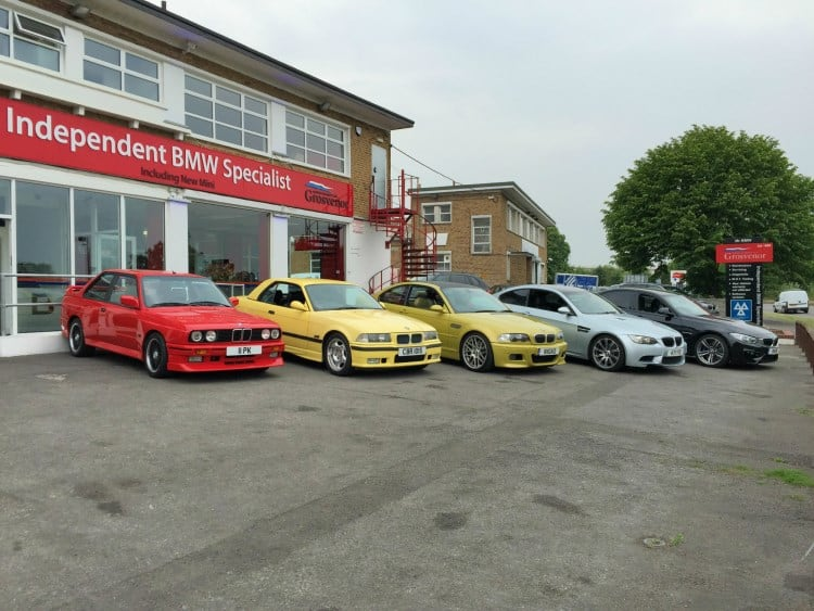 BMW Evolution of the M3 outside Grosvenor Motor Company 3