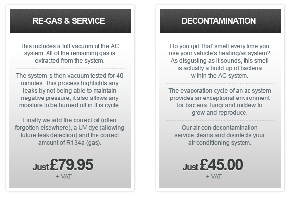 Our Air Con Pricing