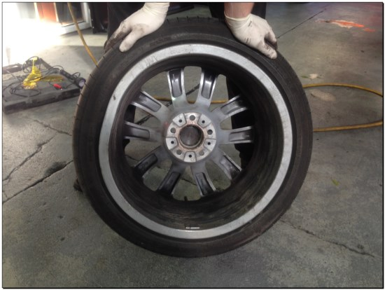 BMW Cracked Alloy Wheel due to Runflat Tyre