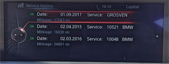 BMW Service History Online