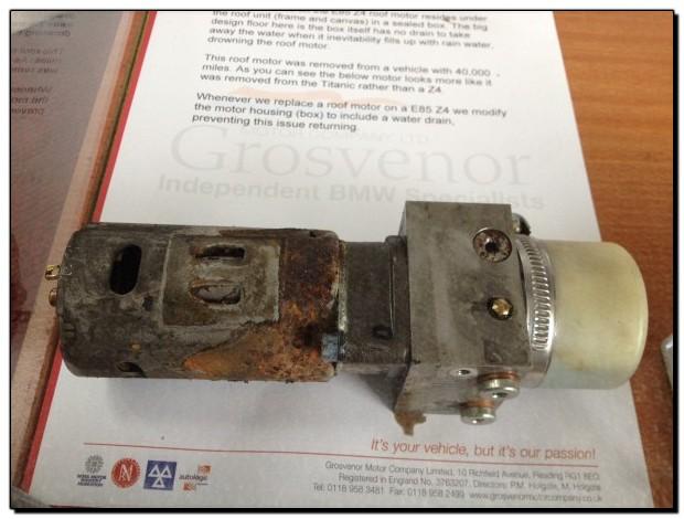 Z4 Roof Motor Failure - Grosvenor Motor Company - BMW Specialist Reading, Berkshire