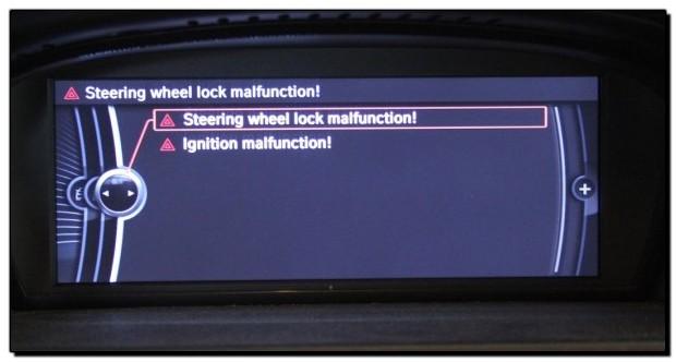 BMW ELV Steering Lock Malfunction Fault - Grosvenor Motor Company - BMW Specialist Reading, Berkshire