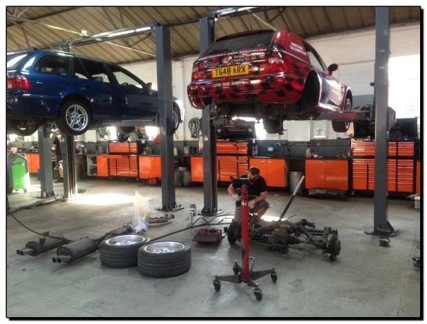 Z3m Coupe in Grosvenor Motor Company Workshop